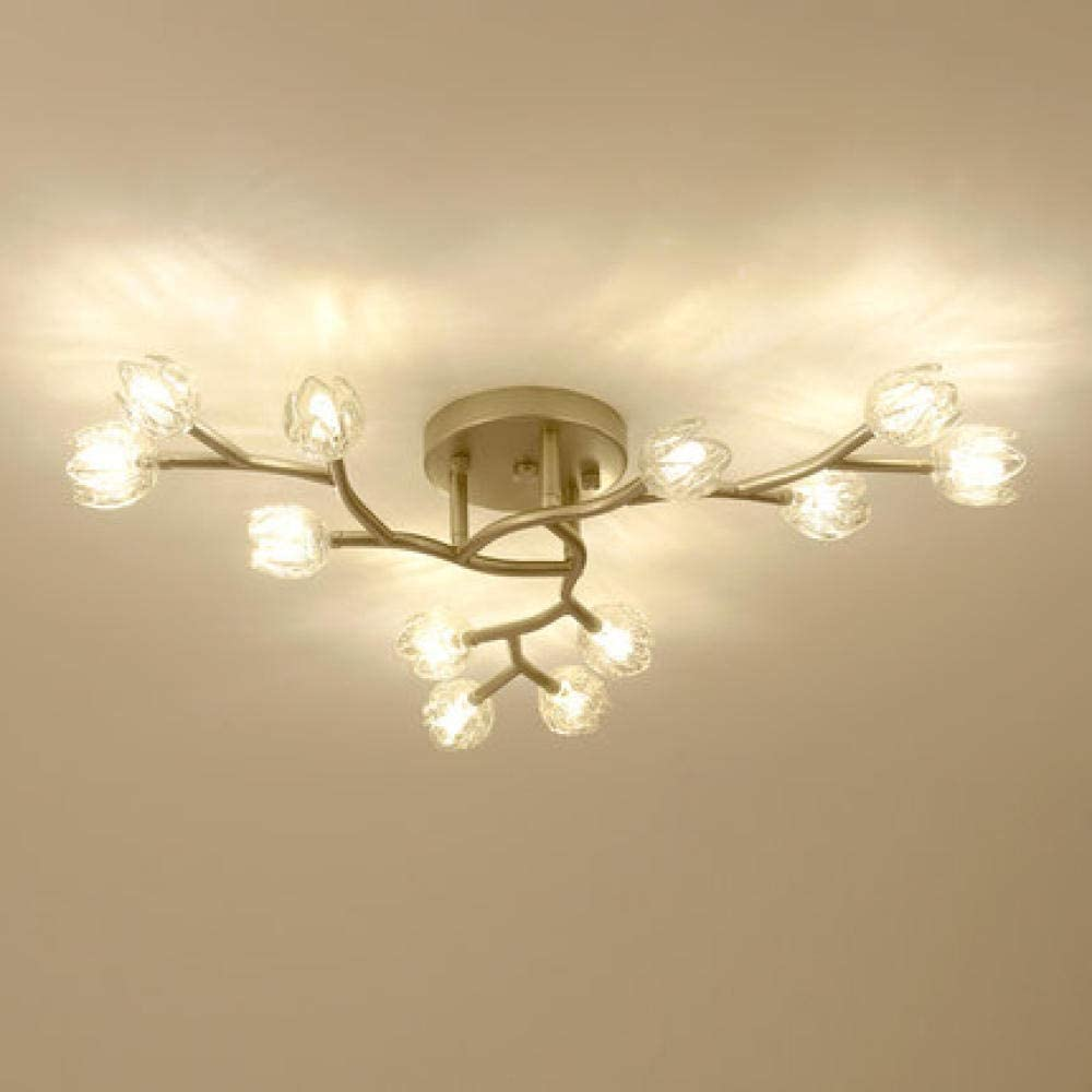 Luces de techo redondas de cristal Lámpara de sala Lámpara de techo led moderna Dormitorio Comedor Luz Tienda Decoración Cristal Iluminación @ 60CM A