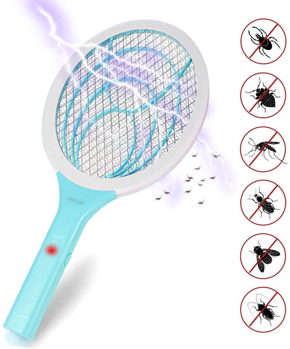 Lukasa Eléctrico Mosquito Mosca Matamoscas Zapper, Plagas Insectos Asesino Repelente Raqueta eléctrica