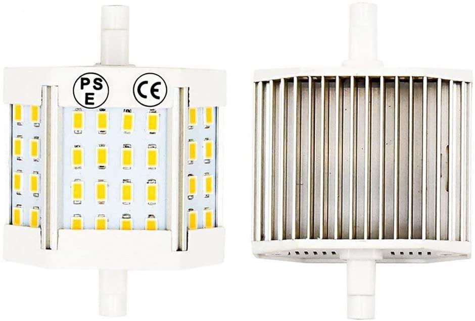 Luxvista 10W Non-Regulable R7S 118MM J118 LED Lineal Bombilla con 1300 Lúmenes, 360 Grados para Lámpara de Pie (2-Unidades, Luz Cálida) [Clase de eficiencia energética A+]