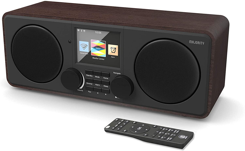 Majority Pembroke II Digital Dab/Dab + / FM y Radio por Internet - Bluetooth - Spotify - Entrada USB y AUX (Nogal)