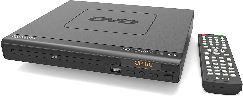 Majority Scholars Reproductor de DVD - Varias regiones 1-6 - Entrada USB - HDMI, DivX, MP3 (Negro)