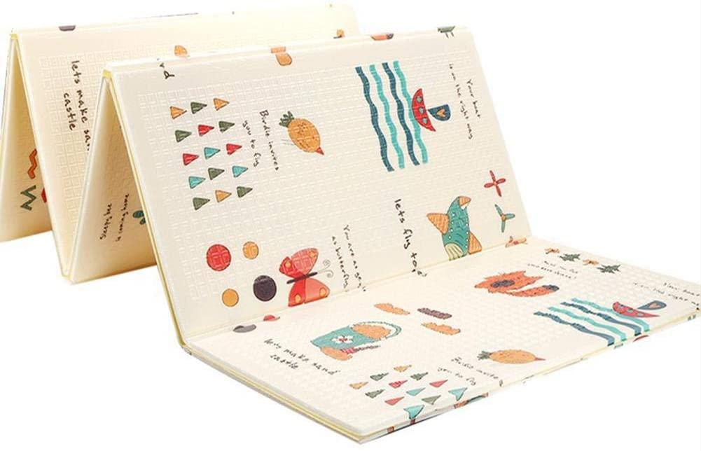 Manta de Juegos para Bebes - XPE Skin-Friendly Material - Plegable tapete de Juego Antideslizante Alfombra Bebe Juegos para dormitorios - 200 cm 150 cm
