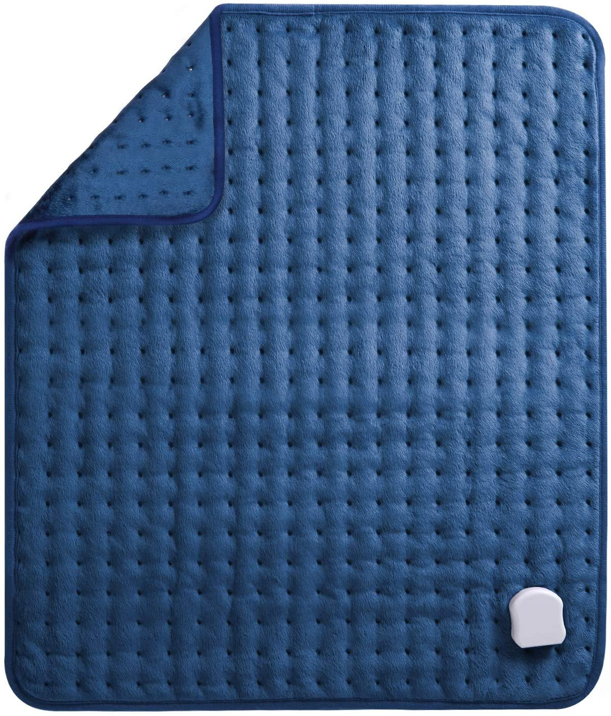 MaxKare Almohadilla Eléctrica Térmica de Grande Tamaño de (50 x 60cm) con Función de Apagado Automático 5 Grados de Calefacción Terapéuticos Franela Suave Alivio Muscular para Espalda Cuello Hombro