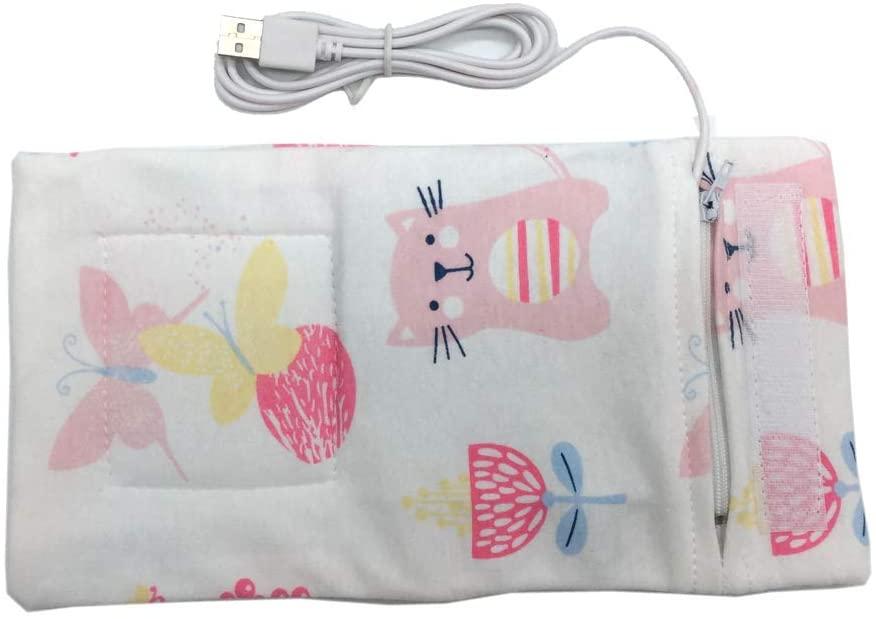 MB-LANHUA Calentador de Leche para bebés Cochecito de Viaje Calentador de Agua con Leche USB Bolsa aislada Calentador de biberones para bebés 6 Colores B #