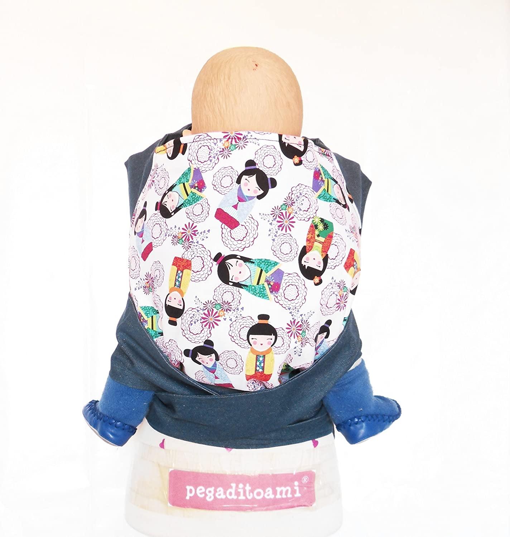 Mochila portabebé artesanal tipo Meitai modelo Japonesitas - Pegaditoami