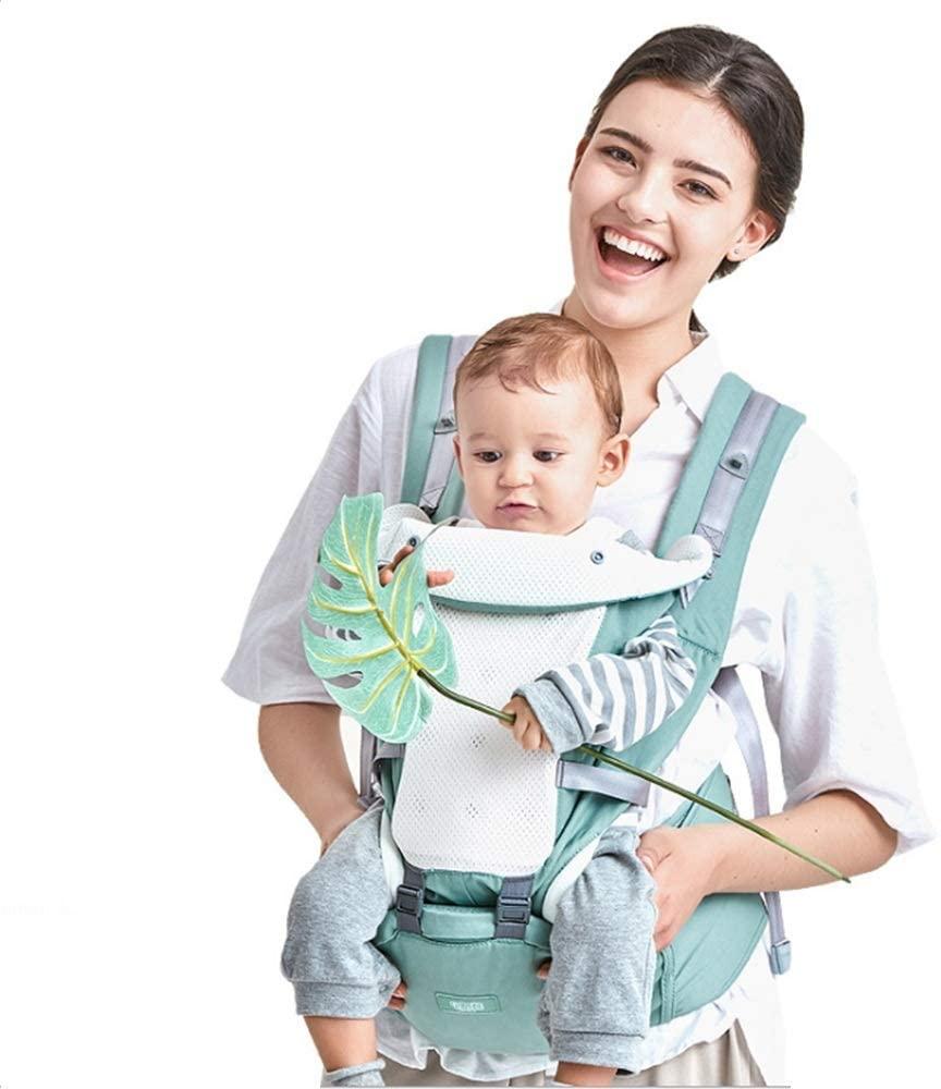 Mochila Portabebé Ergonómico Multifuncional 4 en 1 Fular Porta Bebé con Múltiples Posiciones Suave Ajustable para Niños (Nuevo)