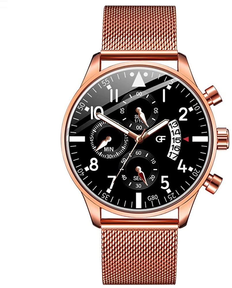 Moda Relojes Hombre Elegante 2020 Mejor Regalo,Reloj De Hombre De Calendario Simple De Gama Alta Reloj De Acero Inoxidable De Cuarzo