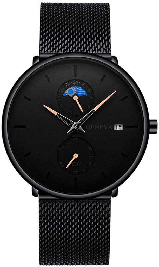 Moda Relojes Hombre Elegante Vestir 2020 Nueva,Red De Calendario De Puntero De Color para Hombres con Reloj Reloj para Hombres De Moda