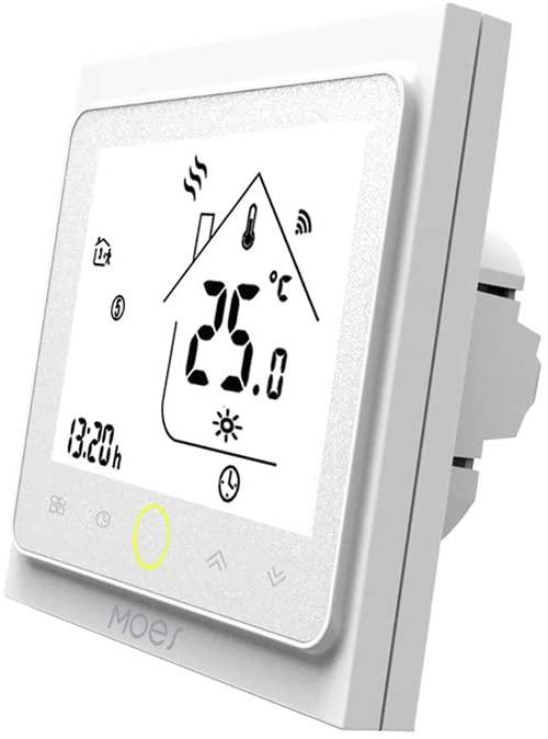 MOES WiFi Termostato inteligente Controlador de temperatura Smart Life Tuya APP Control remoto para calefacción de caldera de gas de agua, 5 + 1 + 1 trabajos programables con Alexa Google Home