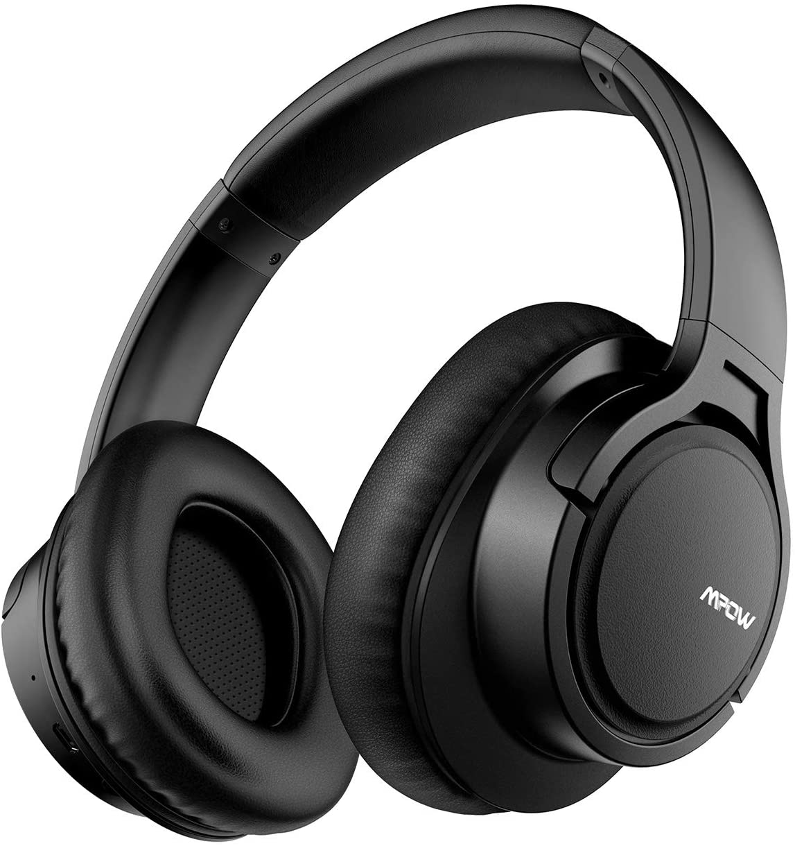 Mpow H7 Cascos Bluetooth Diadema, Auriculares Diadema Bluetooth, 25 Hrs de Reproducir, Cascos Bluetooth Inalámbricos con Micrófono CVC6.0, Auriculares Bluetooth Diadema para TV, Móvil, PC-Negro
