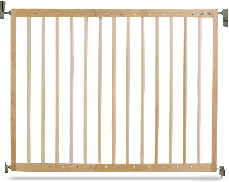 Munchkin Barrera de seguridad de madera, con fijación a la pared, 63.5-106 cm