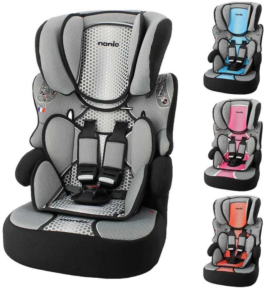 Mycarsit - Asiento elevador para niños Ferrari (para automóvil) - Grupo 1/2/3 (para niños de 9 a 36 kg, en color gris