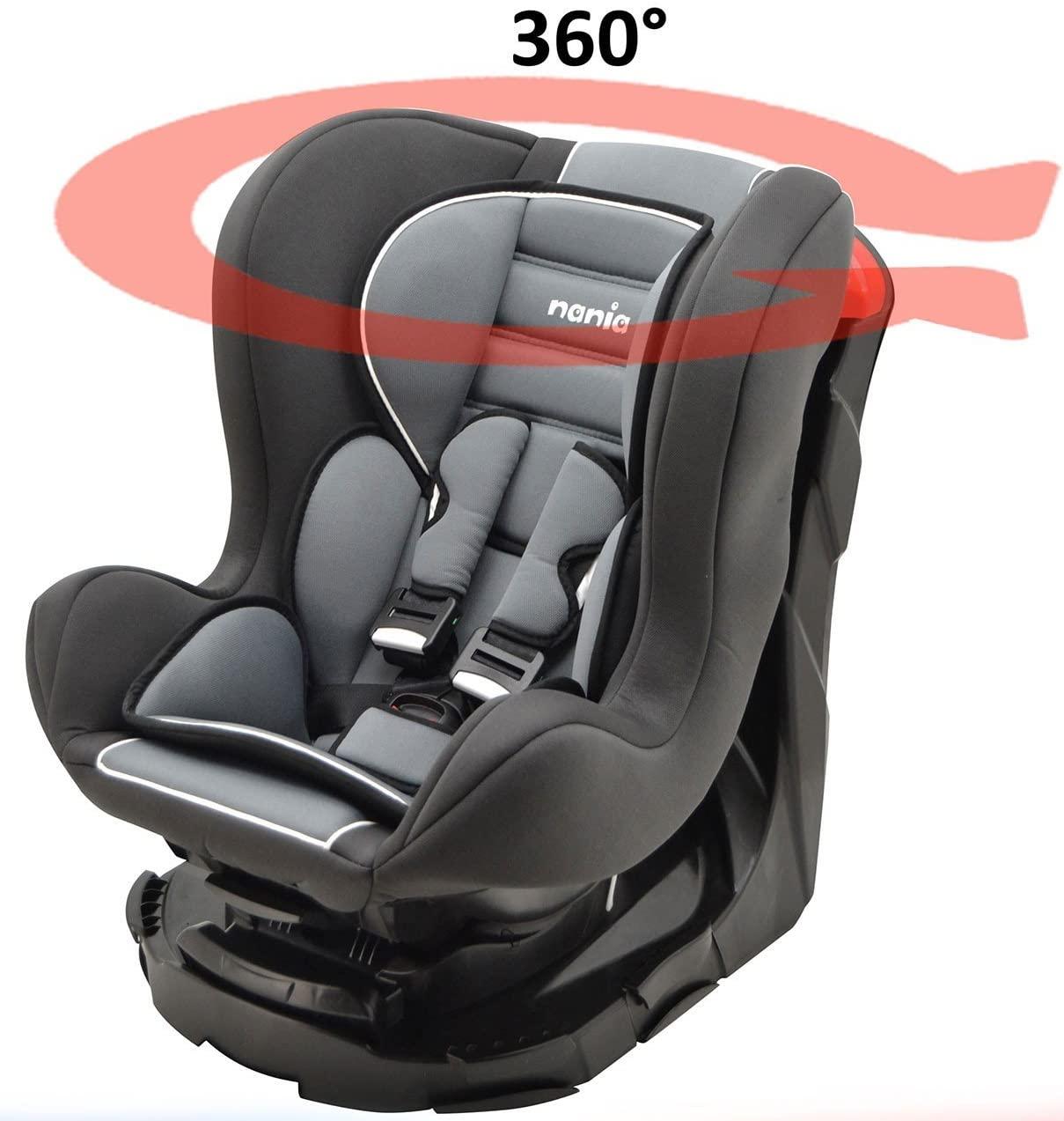 Mycarsit, Silla de coche grupo 0+/1 360 °, negro