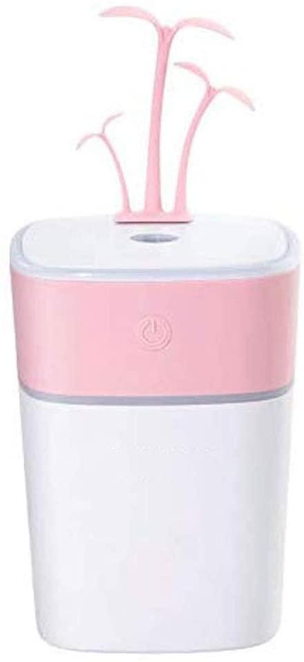 NA Humidificador, Colorido del USB luz de la Noche Hierba difusor de aceites de la Fragancia del Filtro Principal de Aire del Coche del Aroma de Olor (Color : Pink)