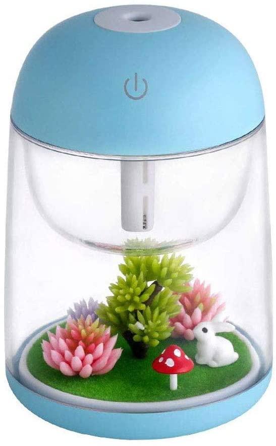 NA Humidificador, Mini USB Colorido Luces de la Noche en Miniatura Paisaje Planta difusor de aceites de la Fragancia del Filtro Principal de Aire del Coche