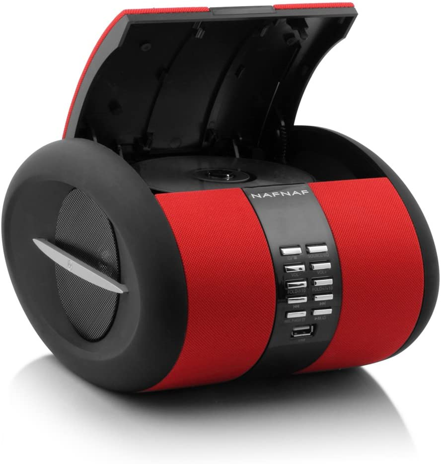 Naf Naf SENSEBTRD - Radio CD de diseño con Bluetooth, USB y aux-in, Color Rojo