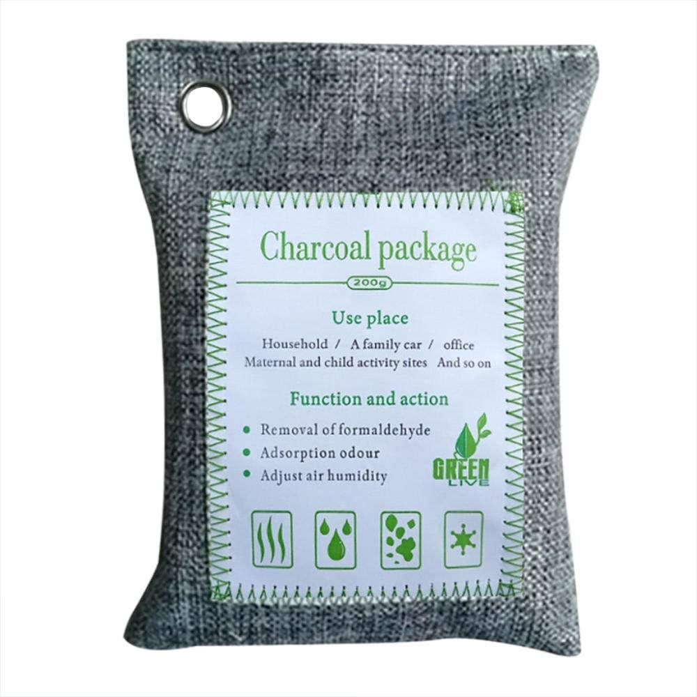 Naiqiao Página Principal Coche Ambientador de Aire de carbón Activado de carbón de bambú Olor Desodorante Colores aleatorios Bolsas de carbón de bambú-si_1