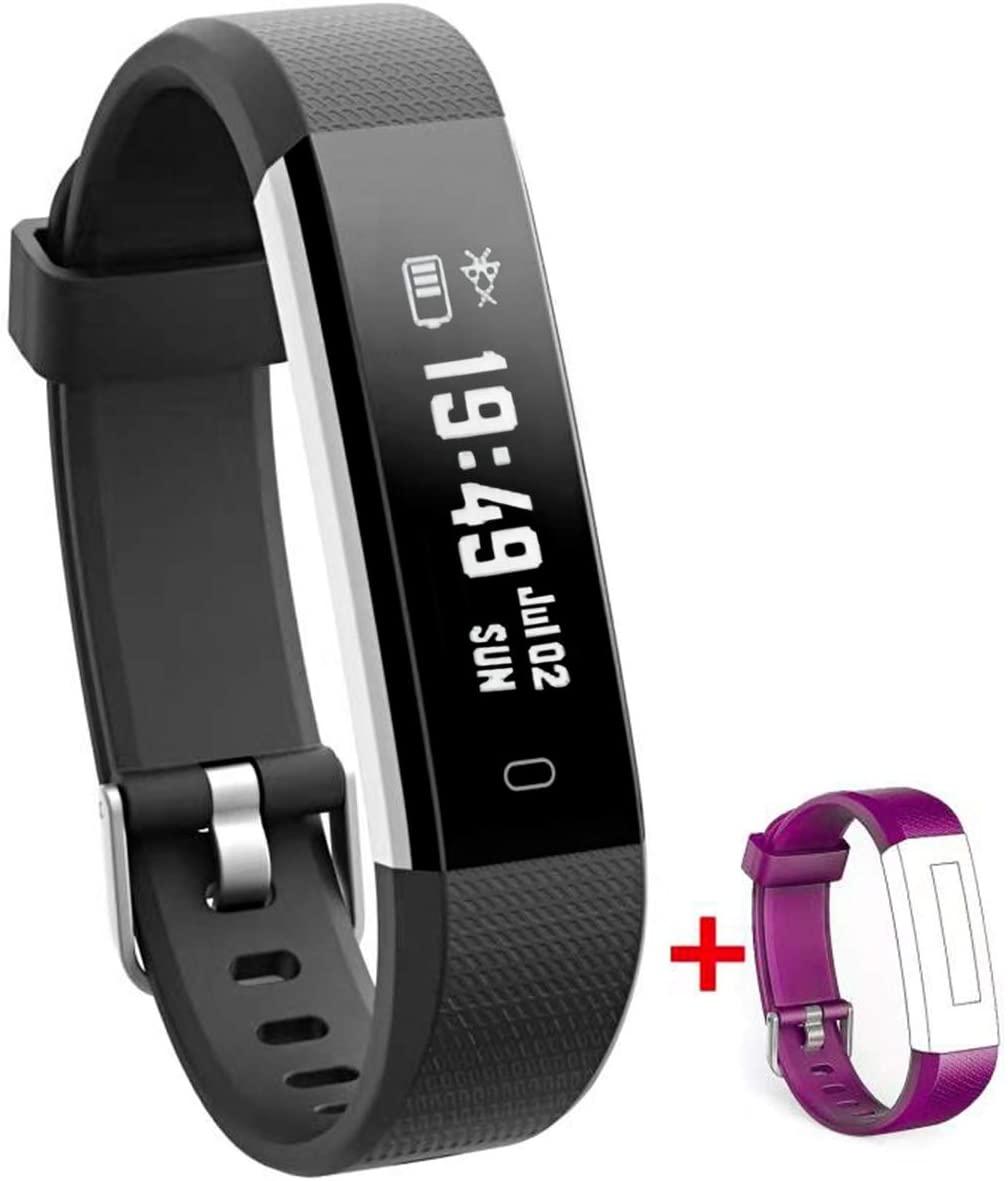NAKOSITE RAY2434 Reloj inteligente mujer hombre Smartwatch Pulsera actividad relojes Inteligentes deportivo, Podometro Contador de Pasos, Calorías, Sueño,Distancia, Android 5.0 o IOS 8.0 y posteriors
