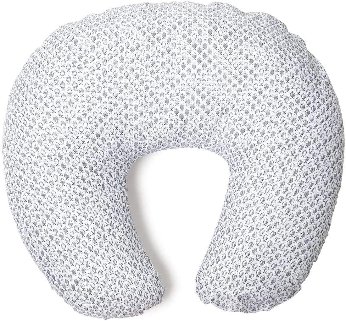 Niimo Funda de Almohada de Lactancia Removible y Lavable 100% algodón Diferentes diseños(Pez Azul)