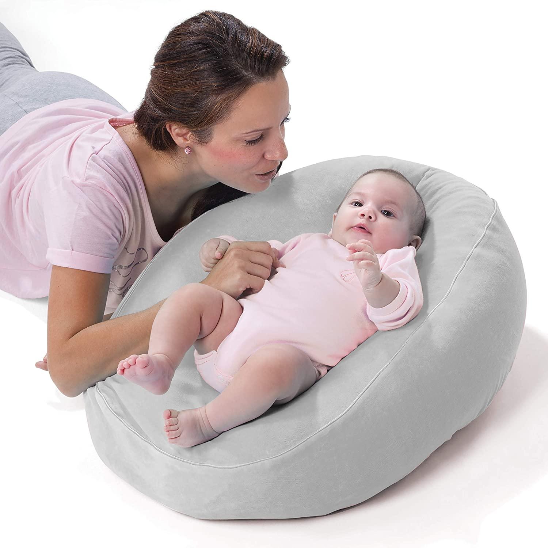 Nuvita 7104 Funda Nido para Almohada de Embarazo Nuvita Dreamwizard 7100 – Funda para Convertir el Cojin de Lactancia en una Cómoda Cama para el Bebé – Se lava a Maquina a 40° - Marca Europea (Gris)
