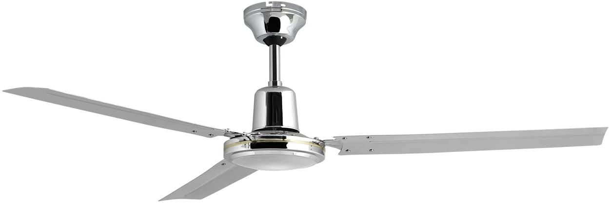 Orbegozo CFC 49120 Ventilador de techo con interruptor de pared, 5 velocidadessilencioso, 120 cm de diámetro, cromado, 60 W de potencia