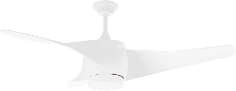 Orbegozo CP 99132 - Ventilador de techo con luz LED, 3 palas de diseño curvo, 132 cm de diámetro, 3 velocidades, 70 W de potencia