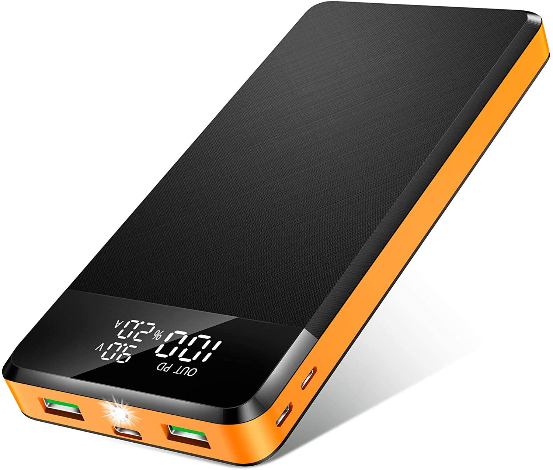 ORITO Bateria Externa 26800mAh Power Bank USB C PD18W & QC3.0 Rápido Cargador Portátil Móvil Gran Capacidad con 3 Entradas y 3 Salidas y Pantalla LCD, para Móviles y Tabletas etc