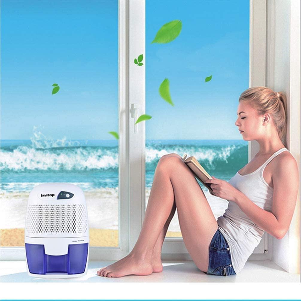 Osmlvjj Aire Deshumidificadores 500ml portátil Mini secador de Aire deshumidificador for Office Dormitorio Principal sótano 1pc Cocina - Enchufe de Reino Unido Pintura Antihumedad y antimoho
