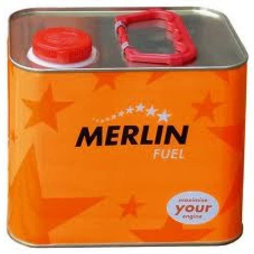 Outletdelocio. Combustible para coches de radiocontrol de gasolina. Merlin Expert 25% Nitrometano. Lata de 2,5 Litros