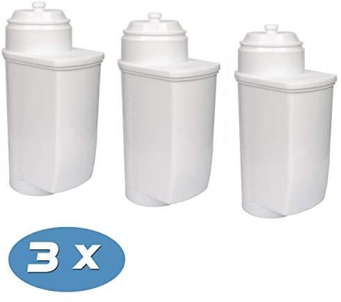 Pack de 3 filtros de Agua descalcificadores para cafeteras automáticas compatibles con Brita Intenza, Bosch TCZ7033, VeroAroma, VeroBar, VeroCafe, VeroProfessional