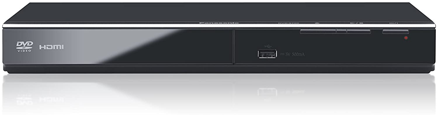 Panasonic S700EG-K - Reproductor de DVD (108MHz/12bit Video DAC, Power Resume, hasta 1080p, Compatible con Xvid, USB, diseño Compacto) Negro