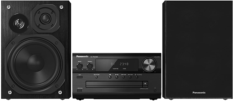 Panasonic SC-PMX80EG-K - Microcadena, 120 W, con Sonido de Alta Definición, Color Negro (Versión Importada)
