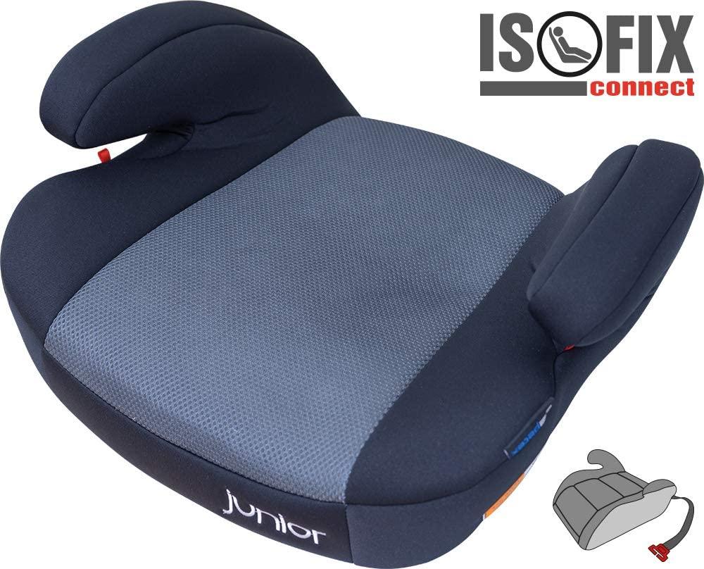 Petex 44430818 Max Plus 152 - Alzador de asiento infantil (con Isofix, HDPE según ECE R44/04), color gris