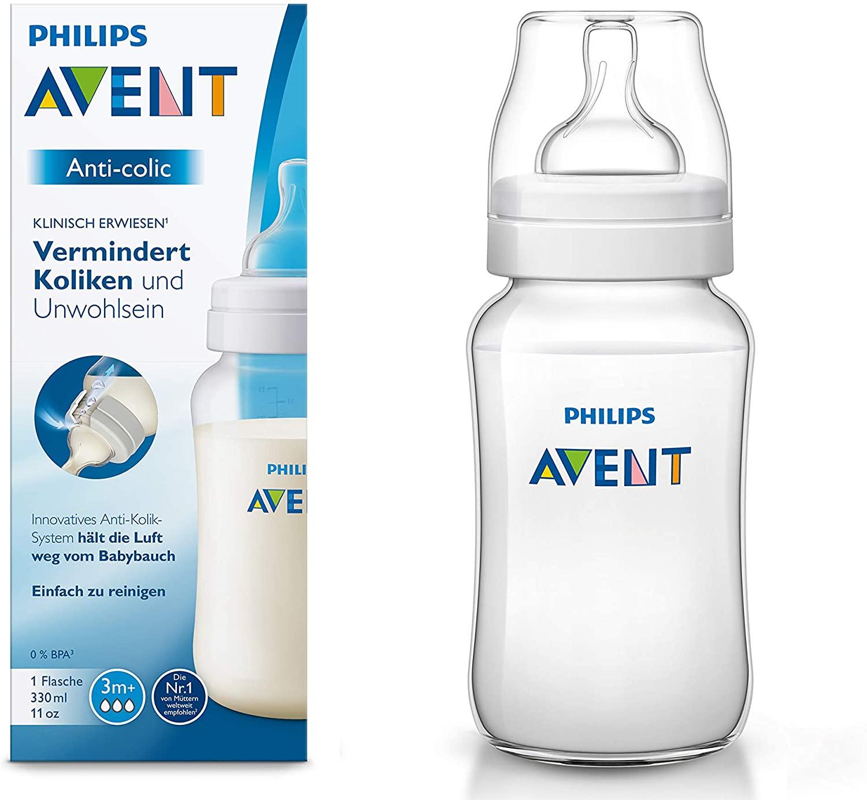Philips Avent SCF816/17 - Biberón Anti-colic de 330 ml, transparente