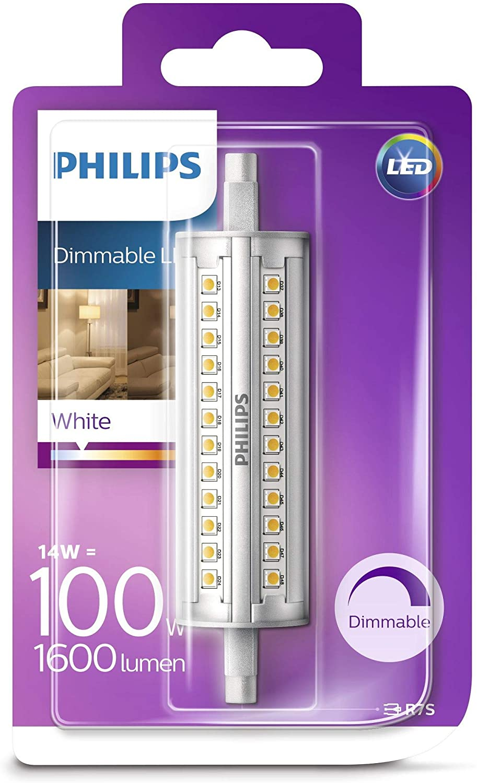 Philips Lighting Bombilla Led R7S Tubo Lineal Led, 100W, 3000K, Luz Blanca Neutra [Clase de eficiencia energética A++]