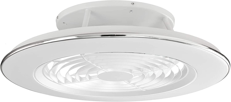 Plafón con ventilados ALISIO - Iluminación interior MANTRA - LED 70W Ventilador 30W - Dimable 2700K-5000K - color blanco [Clase de eficiencia energética A]