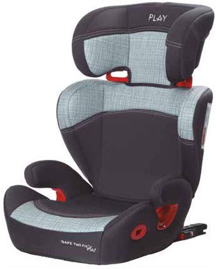 Play Safe Two Fix Plus, Silla de coche grupo 2/3 Isofix, gris