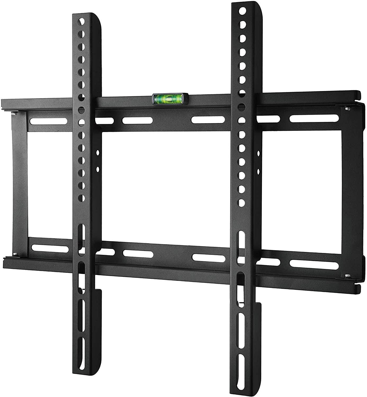 Polarduck Soporte de Pared para TV de 23-55 pulgadas, Fijo Ultra Delgado Soporte TV para LED/LCD/Plasma/Curvada Televisores, VESA Máx. 400x400mm, Carga Máx. 60 kg, Negro