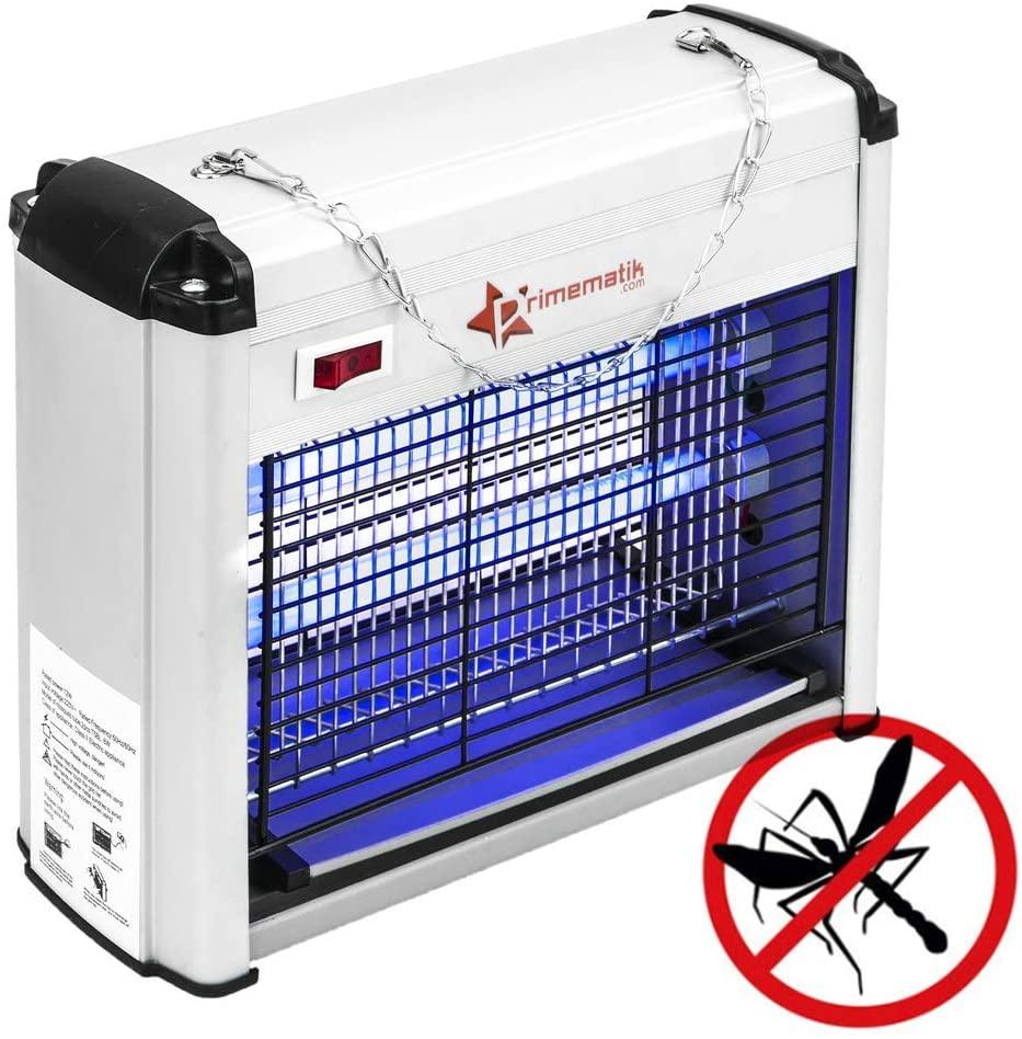 PrimeMatik - Matamoscas y Mosquitos eléctrico Lámpara Mata Insectos voladores y Moscas 12 W