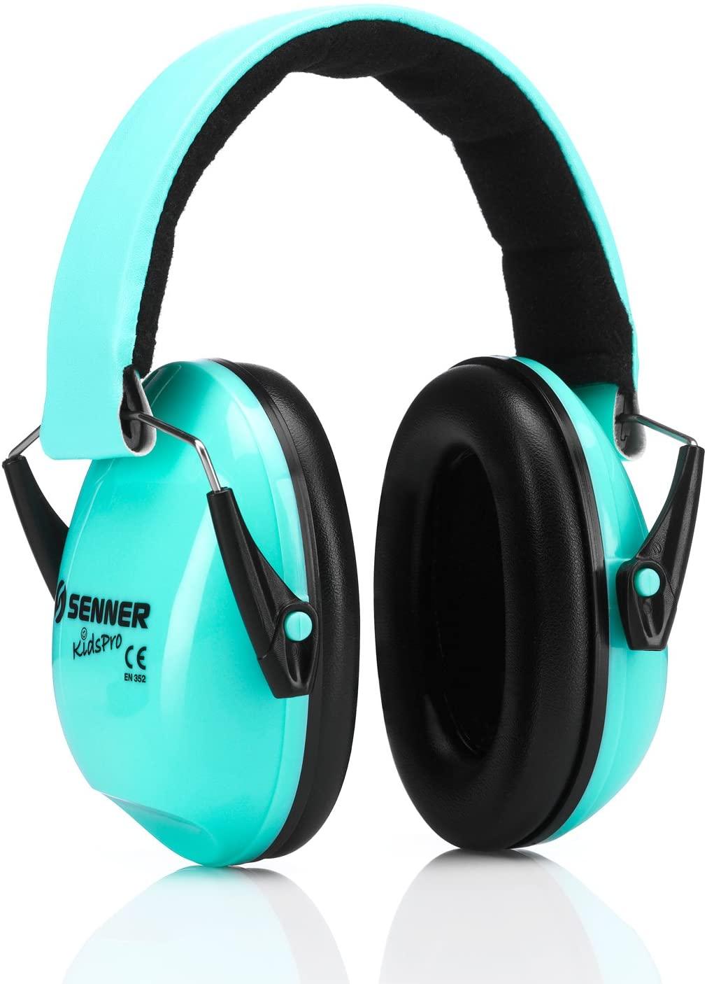 Protección auditiva Senner KidsPro para niños y bebés. Bebés desde 12 meses y niños hasta 16 años crecen con ella (menta/turquesa)