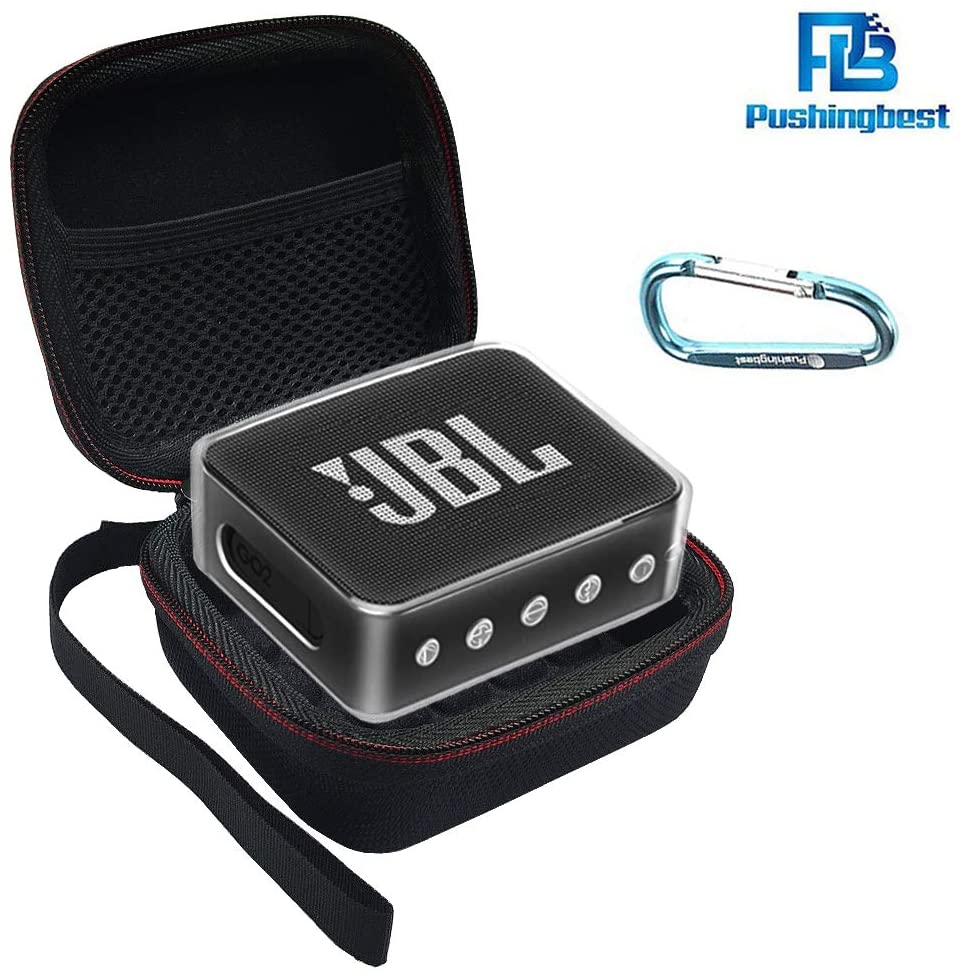 Pushingbest Estuche para JBL Go 2, 2 Casos con Eva y TPU para su Altavoz Bluetooth JBL Go 2