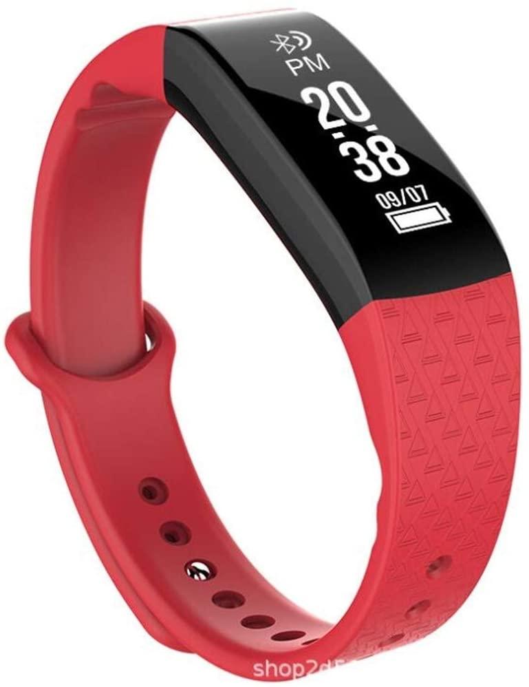QAZXSW Rastreador de Ejercicios con la presión Arterial Monitor de recursos Humanos, 2020 Mejorado Control de Actividad del Reloj, for Las Mujeres de los Hombres de los niños (Color : B)