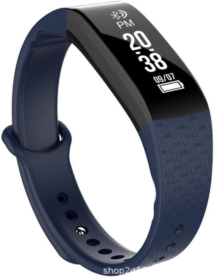 QAZXSW Rastreador de Ejercicios con la presión Arterial Monitor de recursos Humanos, 2020 Mejorado Control de Actividad del Reloj, for Las Mujeres de los Hombres de los niños (Color : C)