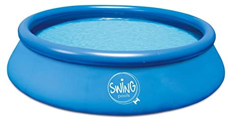 Quick Up Easy Piscina sobre suelo azul, 366x 91cm, sin filtro