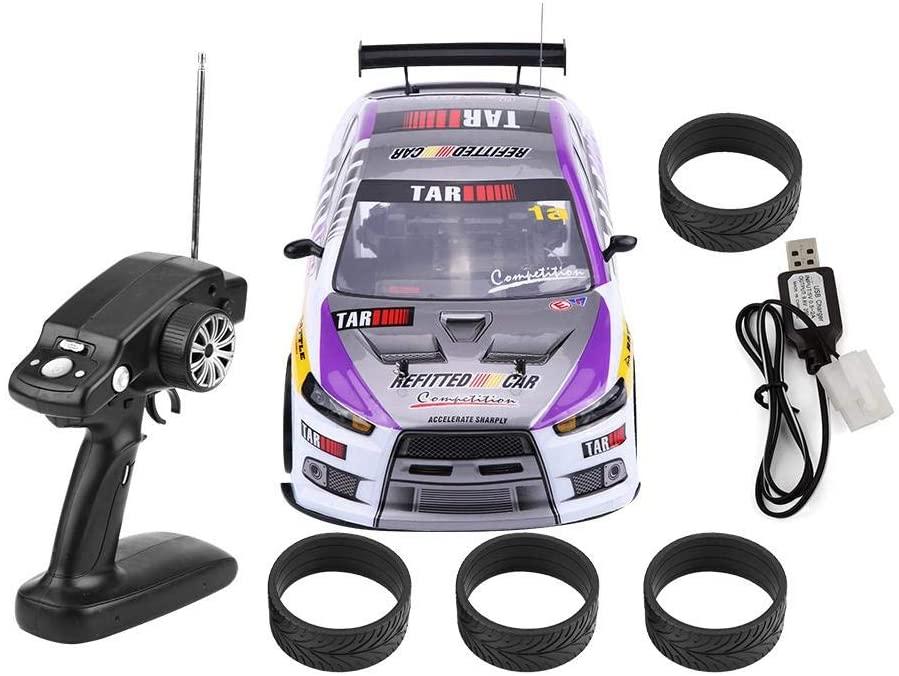 RC Drift Car Toy, 1/10 4WD Control Remoto Drift Coche RC Racing Car Modelo Vehículo de Juguete, con USB Cable