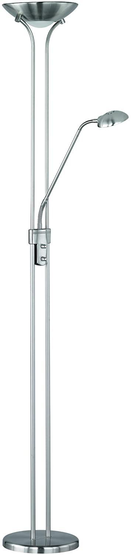 Reality Spock Sobremesas y lámparas de pie SMD, 20 W, Níquel Mate, 180 x 25,4 cm [Clase de eficiencia energética E]