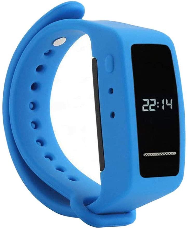 Reloj con Grabadora de Voz Digital, Brazalete eoqo® de 8GB Activada por Voz, Grabadora de Audio con Cancelación de Ruido para Conferencias, Reuniones, Clases, Entrevistas (Brazalete Azul)