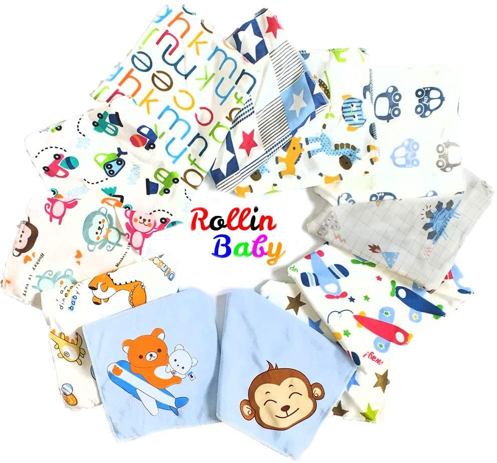 ROLLIN baberos bebe para niño | bandana bebe impermeables, bufanda, pañuelo, antibaba 100% algodon organico. babero bebe denticion de regalos originales para bebes recien nacidos