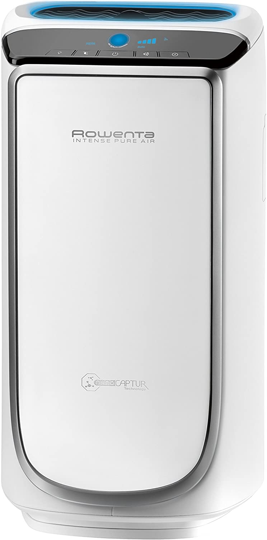 Rowenta Intense Pure Air PU4020 Purificador de aire, hasta 60 m² con sensores del nivel de contaminación, 4 niveles de filtración y tecnología NanoCaptur para sustancias contaminantes
