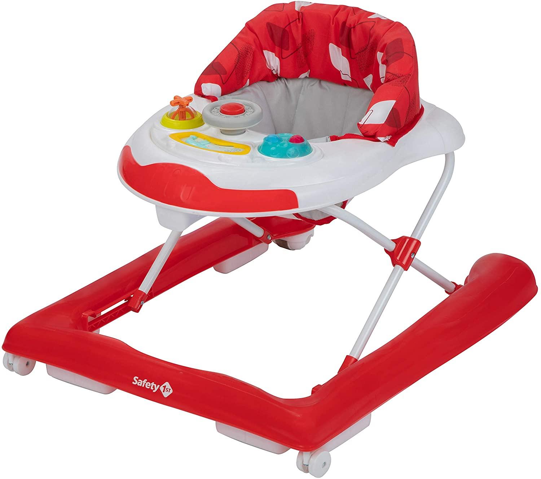 Safety 1st BOLID 'Red Campus' - Andador, con bandeja electrónica de actividades, 6 meses a 12 kg, color rojo